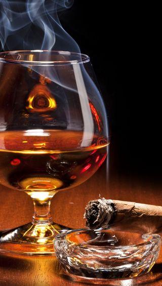Обои на телефон сигара, напиток, стекло, дым, drink and smoke