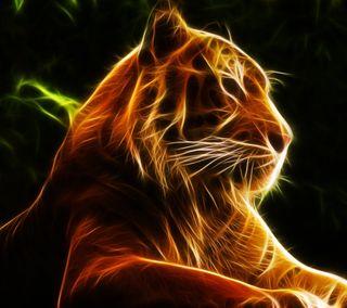 Обои на телефон опасные, удивительные, тигр, свет, питомцы, неоновые, лес, животные, джунгли, абстрактные, tiger abstract