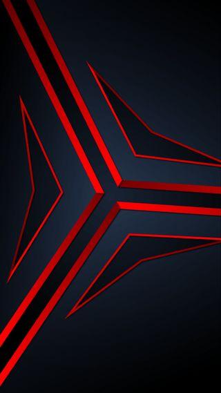 Обои на телефон треугольники, черные, темные, синие, полоски, красые, грани, trianges, blue red triangles