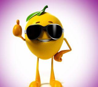 Обои на телефон очки, смайлики, лимон, желтые, в порядке, 3д, 3d