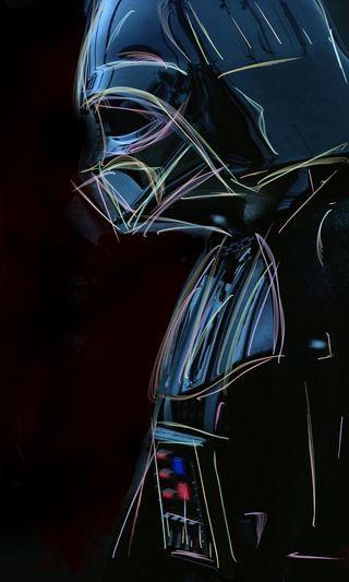 Обои на телефон эффекты, тьма, вейдер, темные, светящиеся, красочные, космос, звезда, дарт, грани, войны, colorful edges