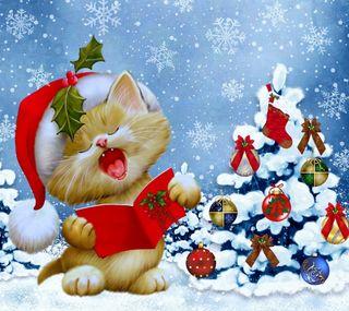 Обои на телефон песня, счастливое, рождество, зима, дерево, christmas song