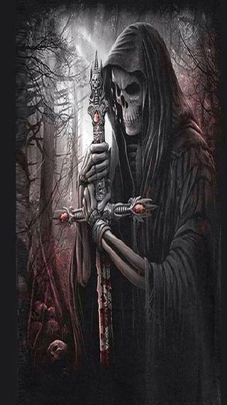 Обои на телефон смерть, мрачные, меч, жнец, death awaits
