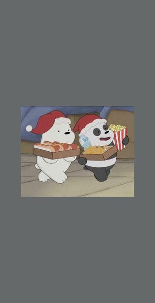Обои на телефон медведи, счастливые, серые, рождество, панда, мы, милые, медведь, лед, we bare bears grey, ice bear, happy, brothers