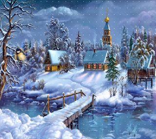 Обои на телефон тихий, праздник, снег, рождество, природа, пейзаж, зима, silent winter