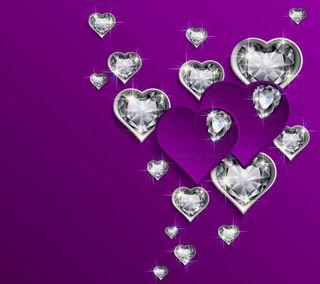 Обои на телефон бриллианты, бриллиант, сердце, hearts with diamonds, diamond hearts