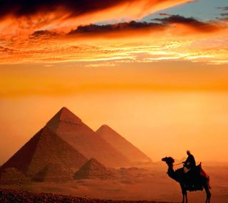 Обои на телефон египет, цветные, закат, cairo
