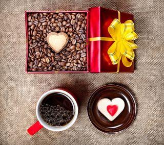 Обои на телефон торт, сердце, любовь, кофе, love
