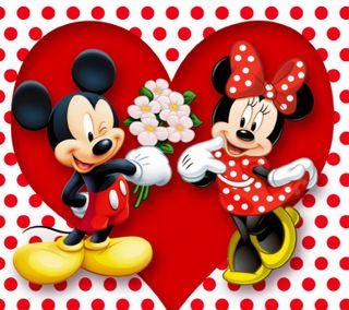 Обои на телефон маус, ты, сердце, минни, микки, любовь, день, love, 1080x960px