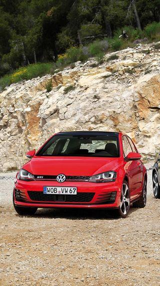 Обои на телефон гольф, фольксваген, машины, красые, автомобили, vw, volkswagen, mk7, gti