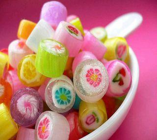 Обои на телефон конфеты, красочные