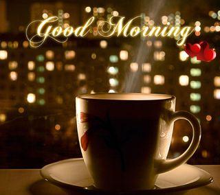 Обои на телефон love morning, любовь, ты, сердце, утро, кофе, чай