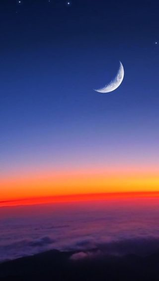 Обои на телефон природа, облака, луна, космос