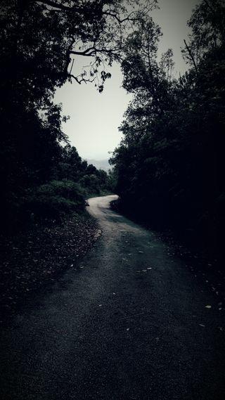 Обои на телефон pathway, вид, пейзаж, холм