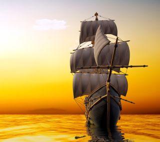 Обои на телефон корабли, море, sail