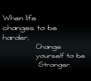 Обои на телефон менять, цитата, себя, поговорка, новый, крутые, жизнь, stronger, harder