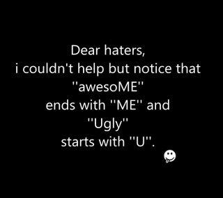 Обои на телефон я, ты, новый, ненавистники, крутые, классные, ugly, dear haters