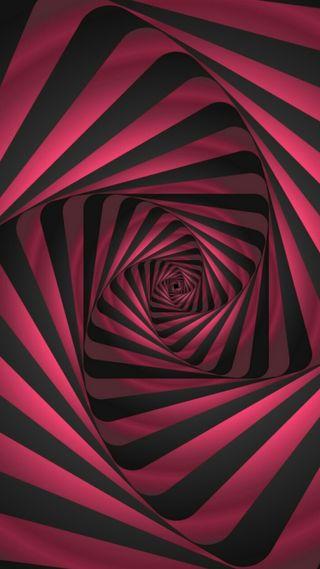 Обои на телефон спираль, черные, красые, дизайн, графические, грани, арт, абстрактные, s7, art