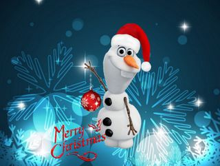 Обои на телефон холодное, счастливое, снеговик, снег, рождество, олаф, зима