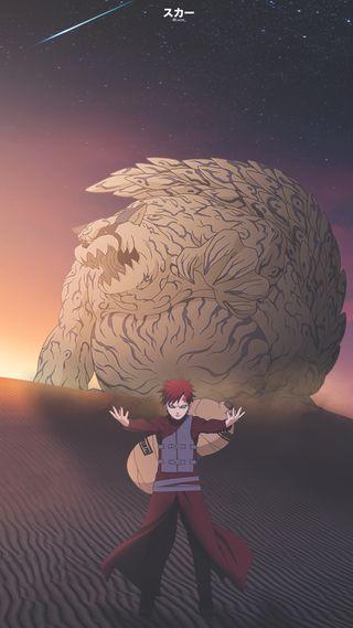 Обои на телефон фотошоп, природа, наруто, монтаж, гаара, аниме, gaara and shukaku, anime edit