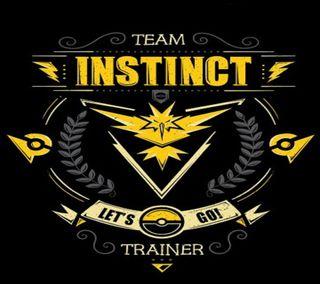 Обои на телефон инстинкт, покемоны, команда, team instinct, screenlock