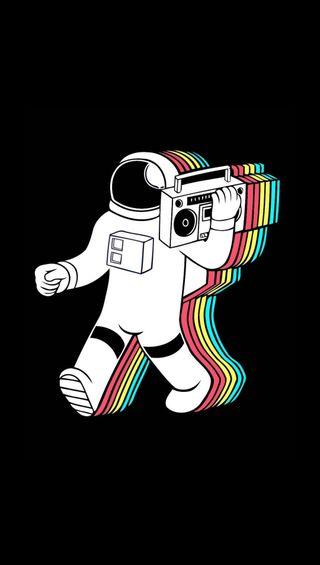 Обои на телефон космонавт, цветные, музыка, космос, the rythm
