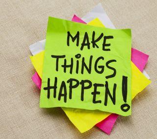 Обои на телефон дела, цитата, приятные, поговорка, оно, новый, крутые, делать, make it happen, hd, happen, 2013