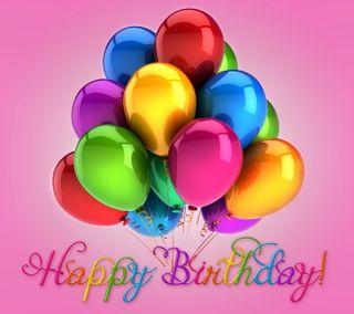 Обои на телефон шары, счастливые, красочные, день рождения, happy
