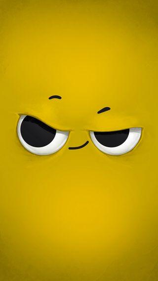 Обои на телефон умный, рисунки, персонажи, мультфильмы, желтые, дизайн, глаза, mmmmmmm