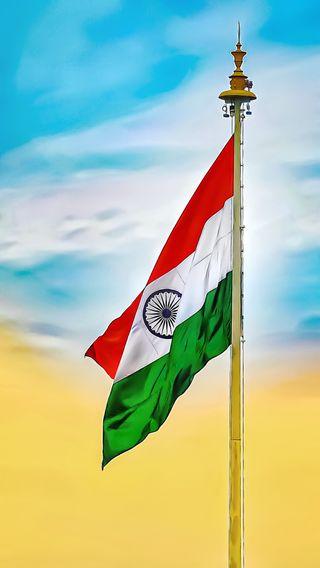 Обои на телефон индия, флаг