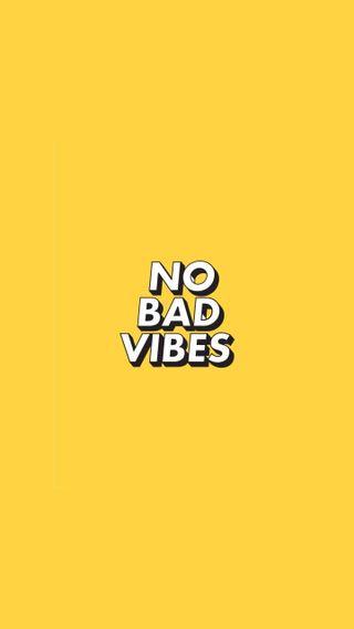 Обои на телефон яркие, эстетические, цитата, только, плохой, желтые, вайб, базовые, tumblr, nobadvibes, no, good vibes only, bad
