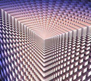 Обои на телефон фрактал, куб, коробка, квадратные, абстрактные, 3д, 3d
