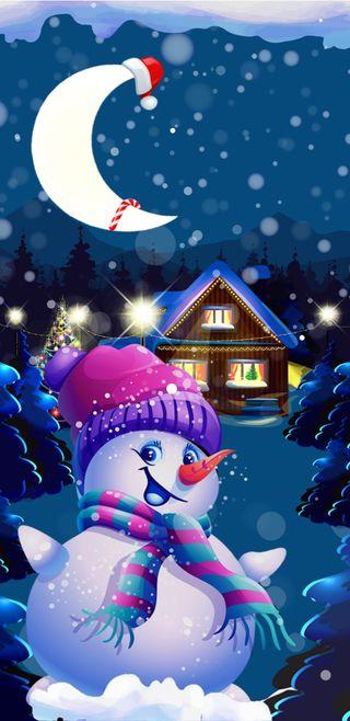 Обои на телефон счастливое, снеговик, снег, рождество, милые, xmassnowman