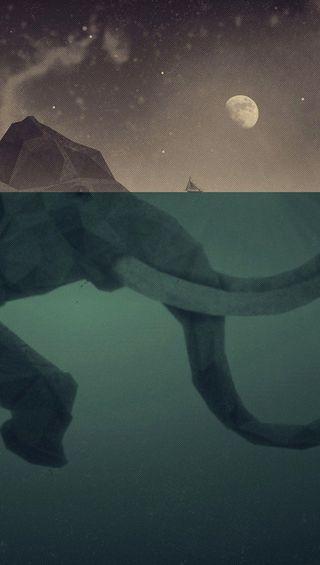 Обои на телефон слон, остров
