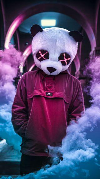 Обои на телефон эффект, панда, новый, маска, мальчик, бренды, swag, editing