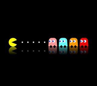 Обои на телефон точки, черные, призрак, игра, аркада, pac, maze, man, ghost