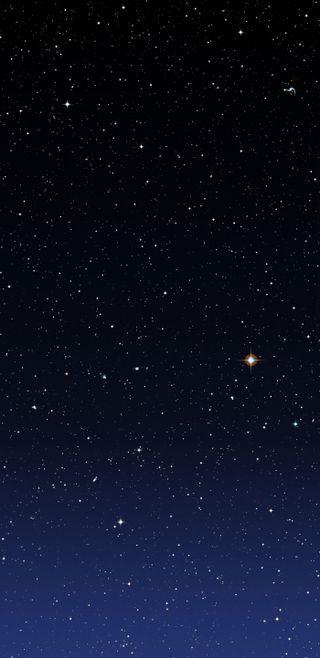 Обои на телефон градиент, синие, космос, звезды, звезда