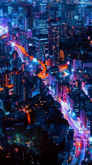 Обои на телефон страна, новый, неоновые, дождь, города, город, packers, ciudades