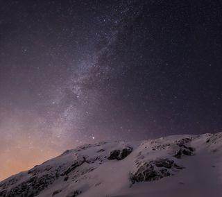 Обои на телефон эпл, снег, ночь, небо, лед, горы, mac, ios8, ios 8, ios, apple