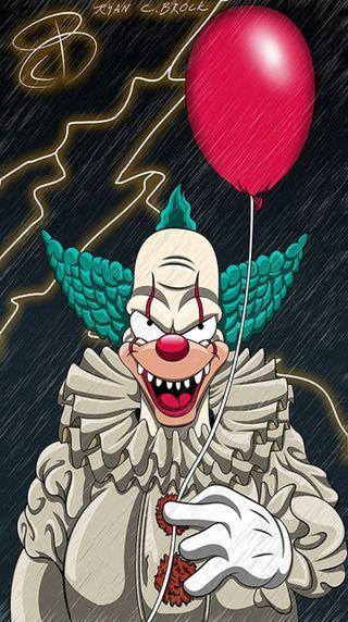 Обои на телефон клоун, ужасы, террор, оно, красные, горячий, krusty el payaso, krusty, globo, eso