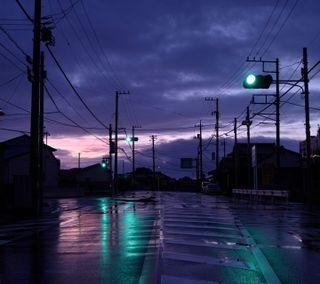 Обои на телефон городские, японские, токио, дождь, cityscapes