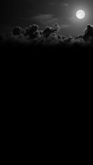 Обои на телефон изображения, черные, природа, облака, ночь, луна