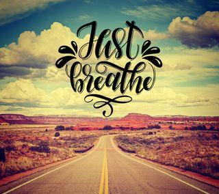 Обои на телефон просто, пейзаж, мотивация, дорога, just breathe