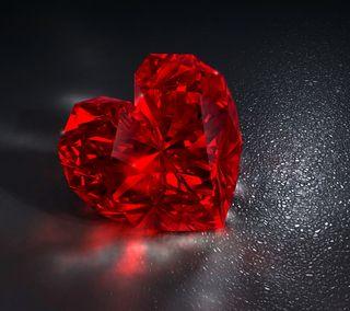 Обои на телефон бриллиант, сердце, красые