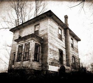 Обои на телефон жуткие, черные, хэллоуин, страшные, старые, дом, винтаж, белые, swamp house