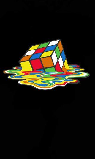 Обои на телефон куб, theory, rubiks, melt, big, bang