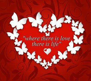 Обои на телефон сообщение, цитата, сердце, поговорка, любовь, красые, жизнь, бабочки, love is life, love