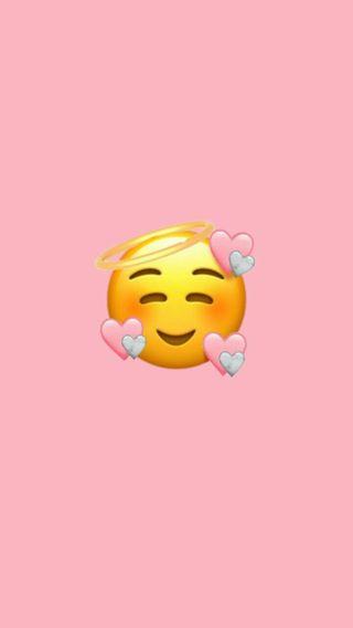 Обои на телефон настроение, эмоджи, серые, сердце, розовые, милые, красые, halo