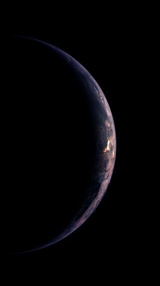 Обои на телефон планеты, темные, телефон, синие, планета, микс, космос, земля, затмение