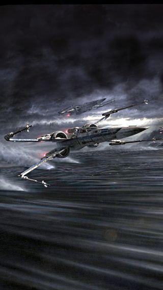 Обои на телефон крыло, звездные войны, x-wing